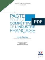 Rapport Louis Gallois Sur La Competitivite