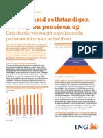 """ZZP Barometer - Themarapport """"Pensioen"""" - i.s.m. ING Economisch Bureau"""