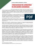 2014 - 3 - 16 - Comunicado International Colombie Castellano