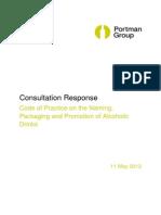 TONIC Portman Group Code Consultation Response