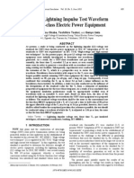 Study on Lightning Impulse Test Waveform for UHV-Class Electric Power