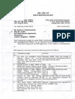 03.03.2014 RTI SWR Bangalore Electrical Suburban Rail EMU MEMU