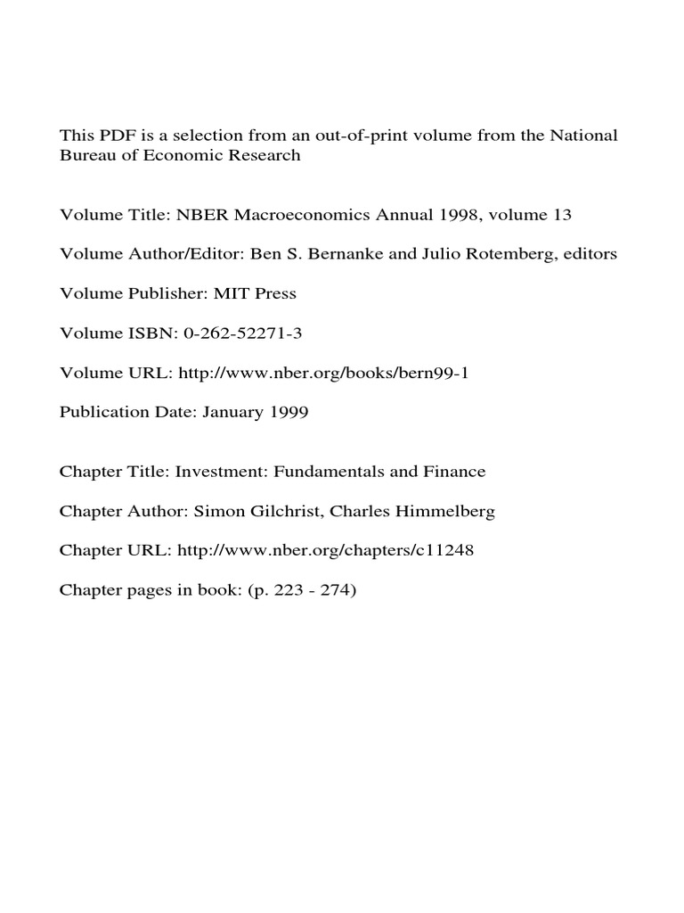 Investment fundamentals and finance pdf vector autoregression investing