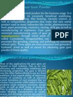 Guar Gum Manufacturers Commercially Use Guar Gum Powder at hrdgums