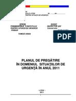 Plan Pregatire Situatii de Urgenta 2011