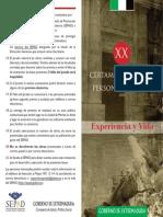 El SEPAD Convoca El XX Certamen Literario Para Mayores Experiencia y Vida