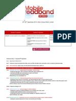 Agenda Mbw 2012