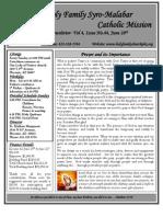 Holy Family Syro-Malabar Catholic Mission