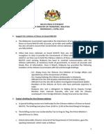 MH370 Press Statement by Hishammuddin Hussein on 2 April 2014