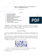 Problems for the 1st International Tournament of Young Mathematicians