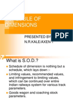 Schedule of Dimensions