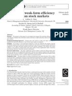 Testing the Weak-Form Efficiency