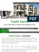 Teerth Aarohi offers 2 and 3 BHK Flats in Pashan-Sus Road Baner Pune
