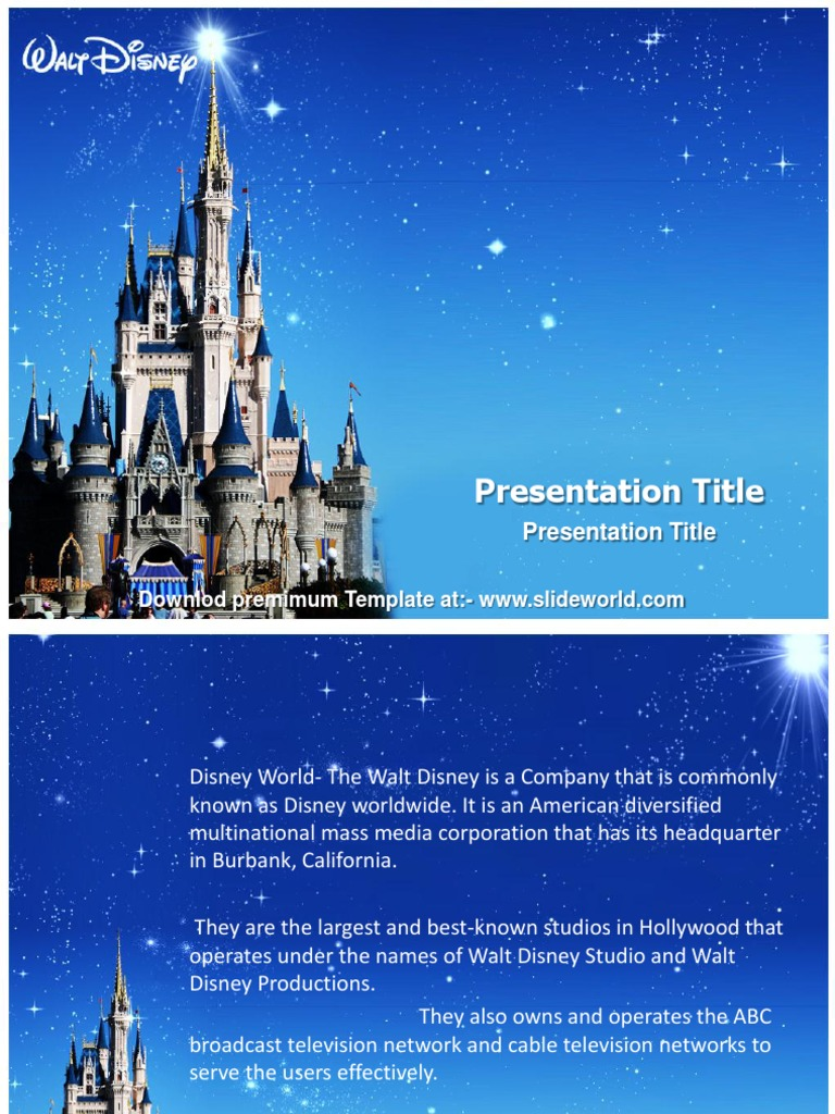 Disney world powerpoint template slideworld page layout graphics alramifo Image collections