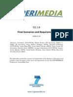 D2.1.8 Final Scenarios and Requirements