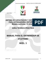 Manual de Atletismo Nivel 3, Estructura de Diez Niveles