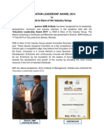 Writeup on Dna Award 2014_PB_ 19 Feb 2014