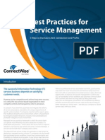 Best Practices for Service Management