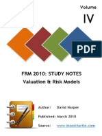 FRM-I Valuation Models Notes