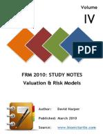 FRM-I Valuation Models Notes