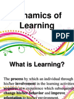 Dynamics of Learning (Introduction)