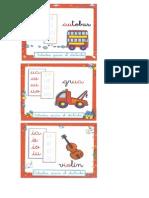 fichas secuencias vocálicas