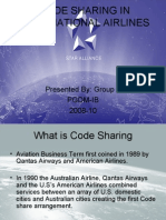 Code Sharing in International Airlines