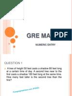 GRE Math Numeric Entry