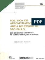 Política de aproveitamento de areia no estado de São Paulo