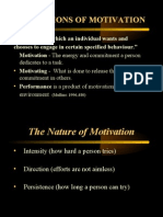 Definitions of Motivation
