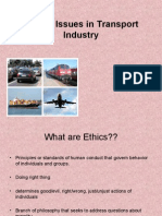 Ethical Issues and Transort Industry