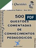 Conhecimentos Pedaggicos-500questes Comentadas