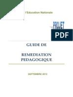 Le guide de remédiation pédagogique 2012