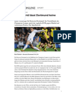 Champions League Borussia Dortmund Real Madrid