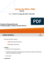 AULA 02 - As Estruturas Do DNA e Do RNA. Cromossomos, Cromatina e Nucleossomo