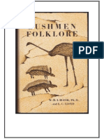 Specimens of Bushman Folklore