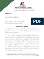 Grupo Ramos S.a. y Multicentro La Sirena Charles de Gaulle vs. Yolanda Martinez