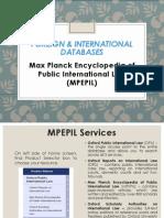 Max Planck Encyclopedia of Public International Law Tutorial