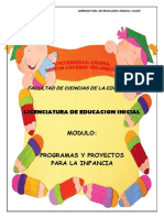 Modulo Programas y Proyectos Para La Infancia