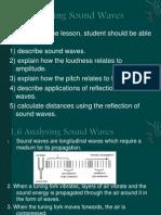 1.6 Analysing Sound Waves Ppt