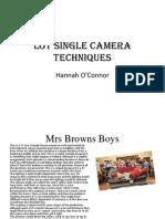 lo1 single camera techniques