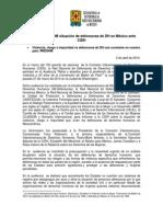 130402 BOLETÍN_Presenta RNDDHM situación de defensoras de DH en México ante CIDH