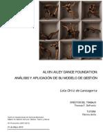 T10-0239 Ortiz, Lola Alvin Ailey Dance Foundation, Anlisis y Aplicacin de Su Modelo de Gestin