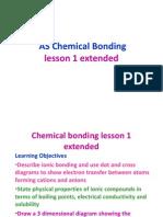 Chemical Bonding Lesson 1 Extended