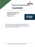 DLINK_WLAN_relnotes_R2.2.0.23