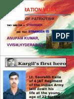 kargil war and 1st hero