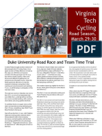 VT Cycling Newsletter Duke