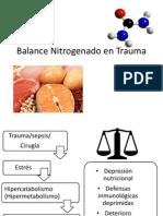 Balance Nitrogenado en Trauma