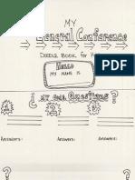 General Conference Doodle Book