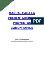 Manual de Proyectos Comunitarios